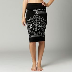 {FOX Racing} Darksiders Pencil Skirt Ouija Board